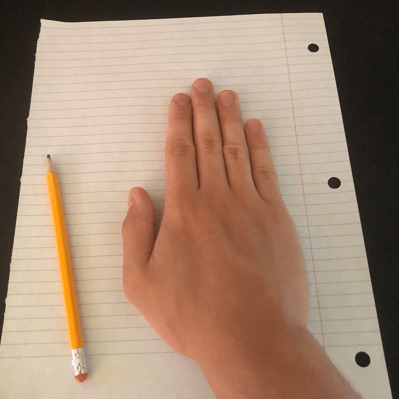 Pen and paper example